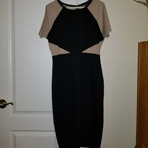 Gorgeous black and tan dress . Worn only once.